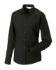 Blouse Poly-cotton ladies lange mouw